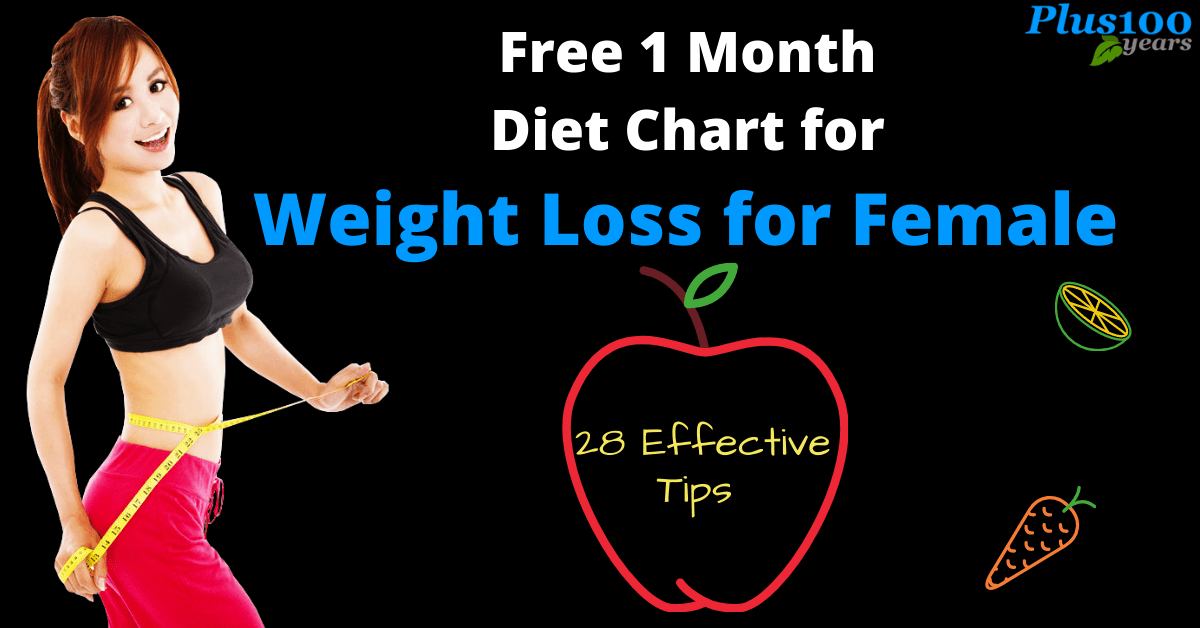 Diet Chart for Weight Loss for Female (With Free 1 month Diet Chart by Dietitian: Hetal Mehta)