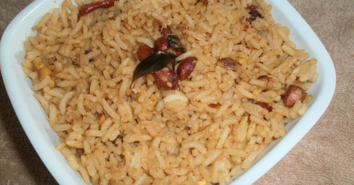 How to make Pulihora with Tamarind Pulp