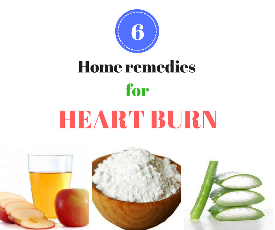 Top 6 Home remedies for heartburn to get instant & quick relief naturally