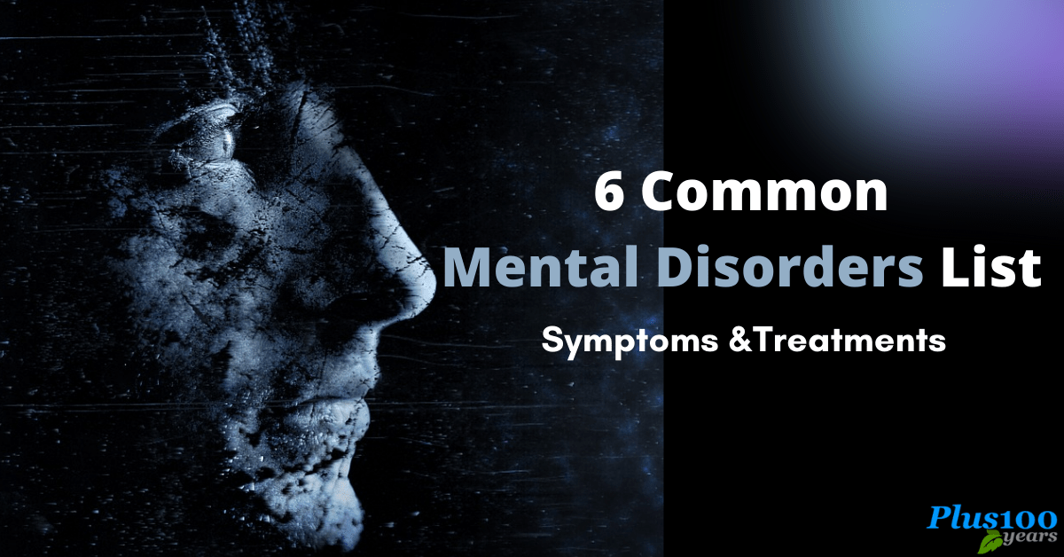 Common Mental Disorders List : Mental Disorders Symptoms and Treatments