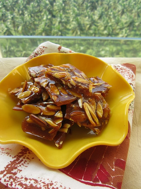 Tasty and Healthy Almond Til Chikki Best Weight Gain Recipe