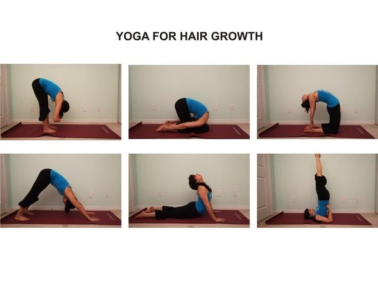 yoga for hair growth || yoga for hair growth