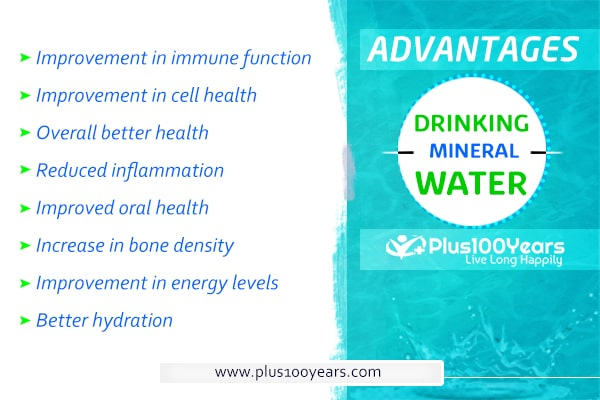 Advantages of drinking mineral water