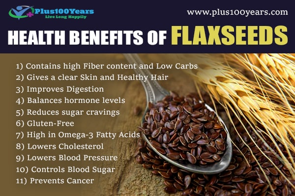 Health benefits of flaxseeds
