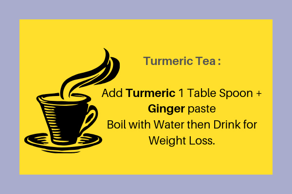 Turmeric tea || Herbs and spices for Weight Loss