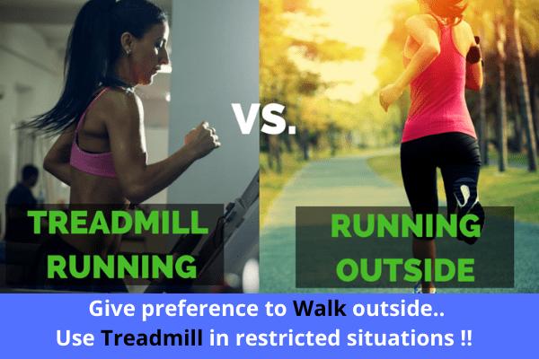 Treadmill vs walking || Treadmill vs walking