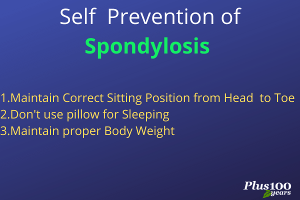 Self prevention of spondylosis || self prevention of spondylosis