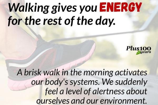 Walking gives you energy || walking gives you energy