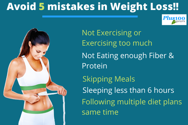 mistakes in weight loss