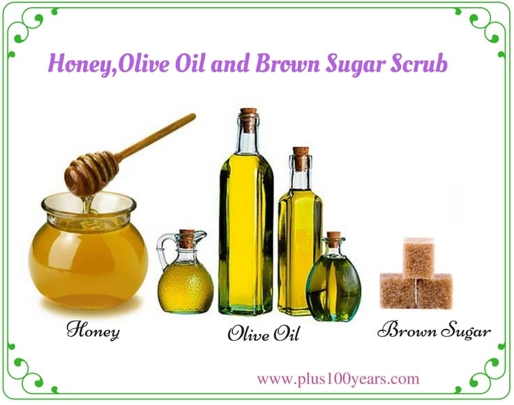 Olive Oil, Honey And Brown Sugar Scrub