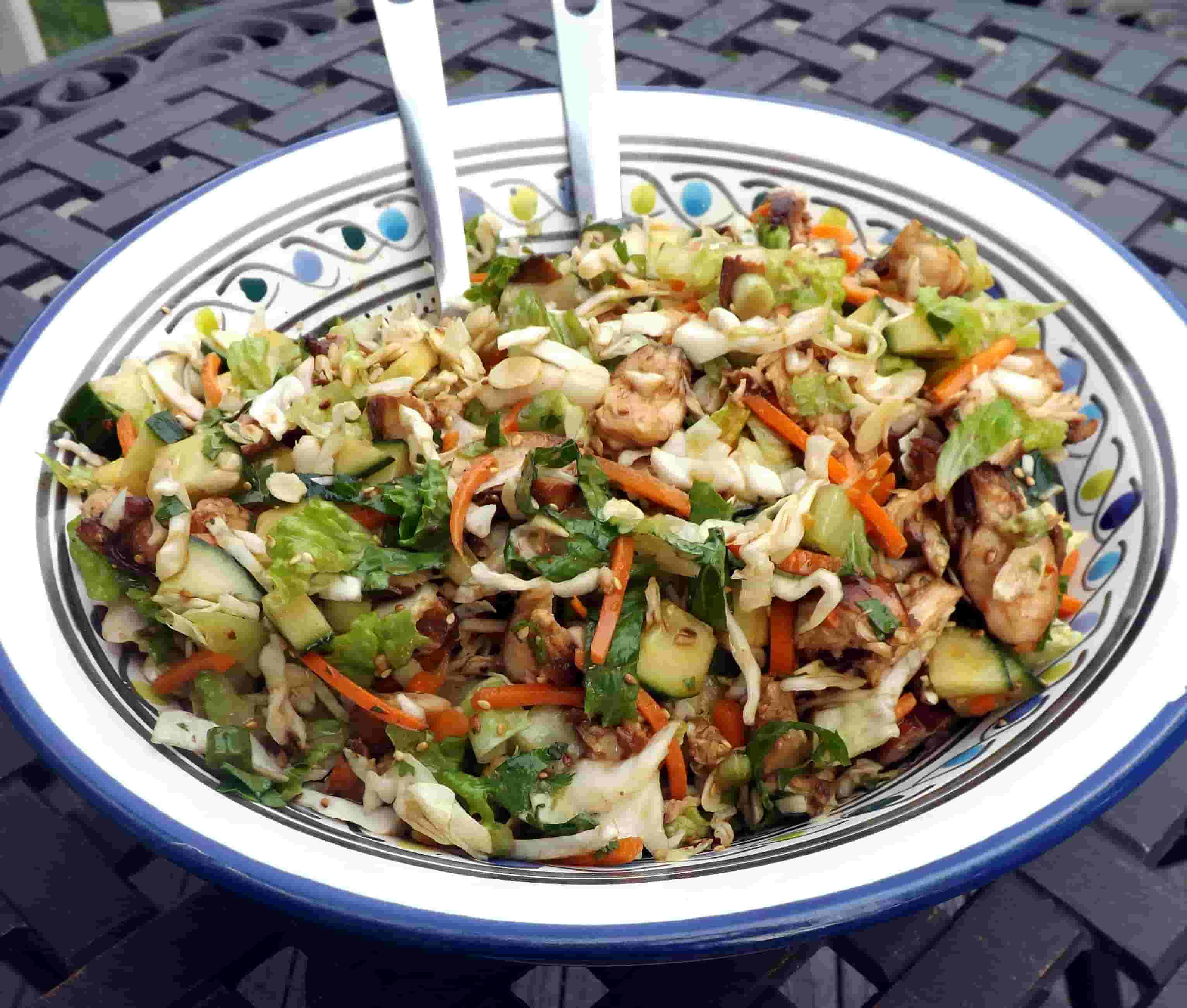 asian pulled chicken salad is one of the Healthy fast food recipes