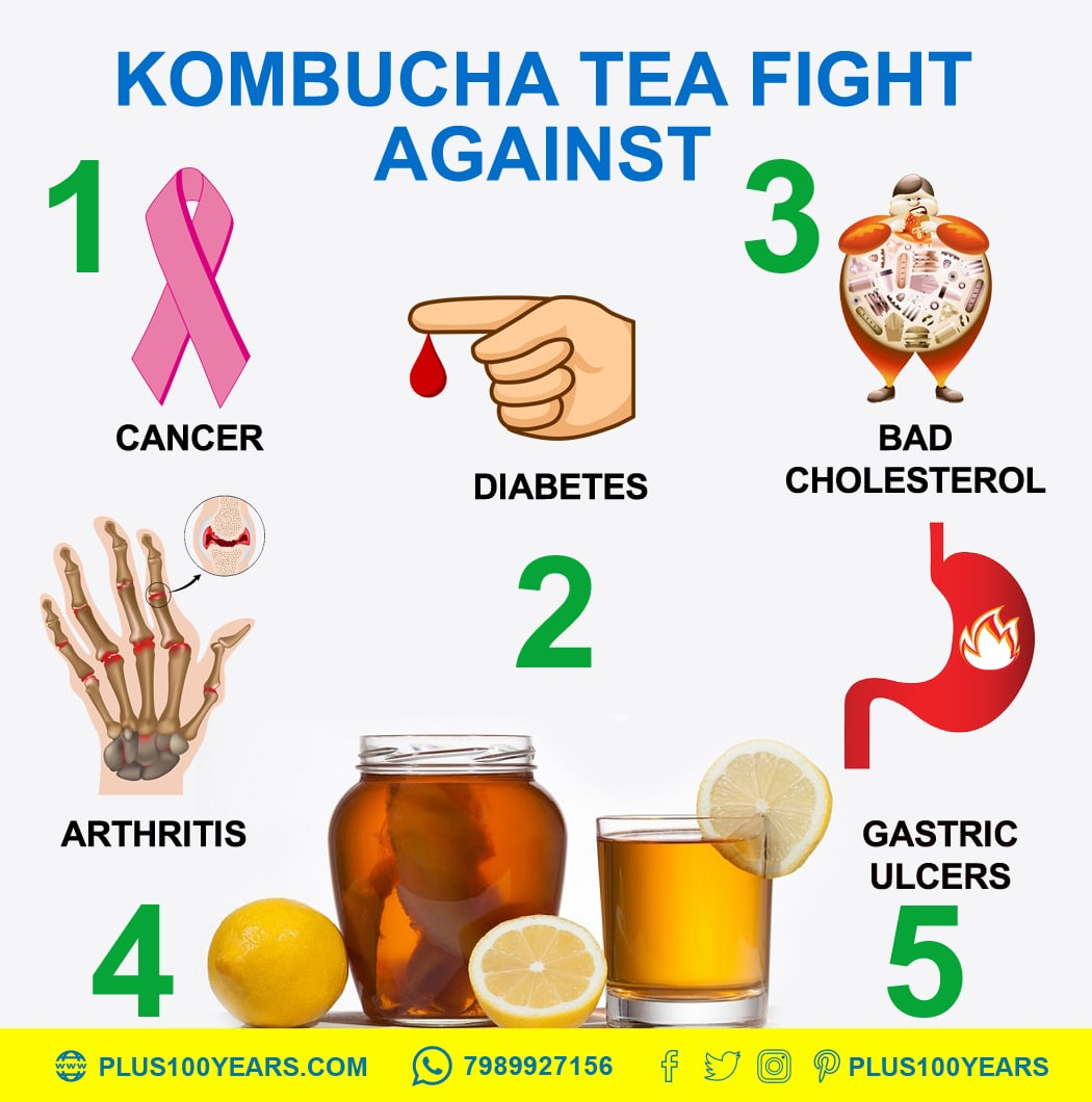 Kombucha tea fight against