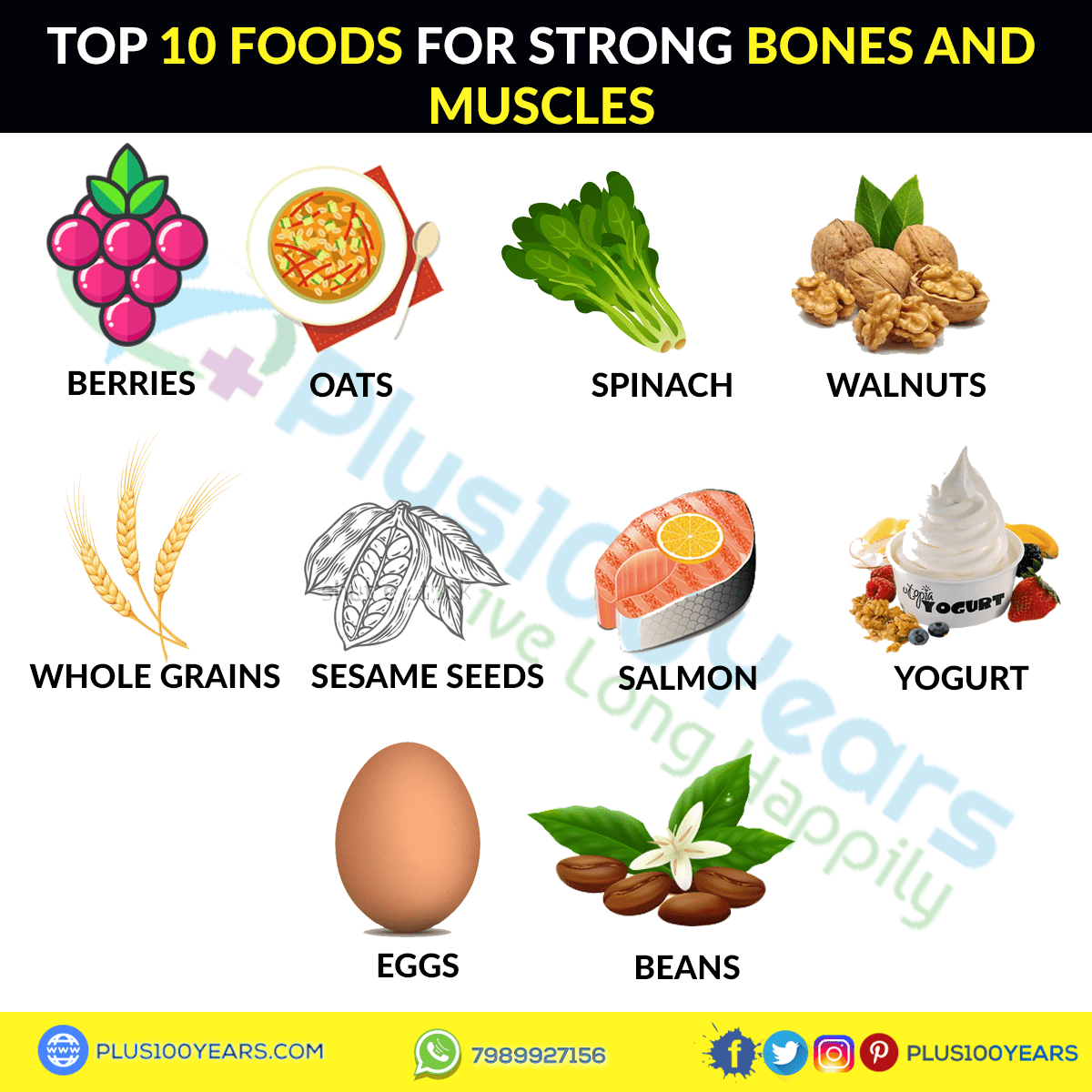 Foods for strong bones and muscles