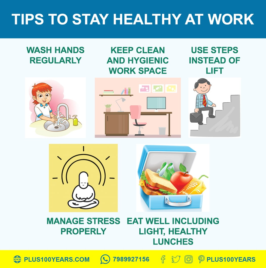 Tips To Stay Healthy At Workplace