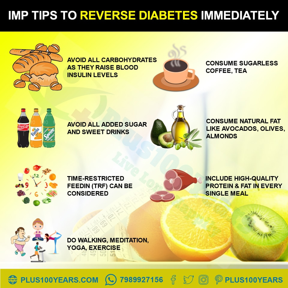 Tips to reverse diabetes immediately