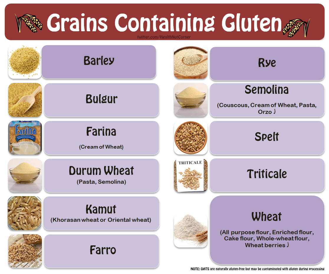 grains containing gluten