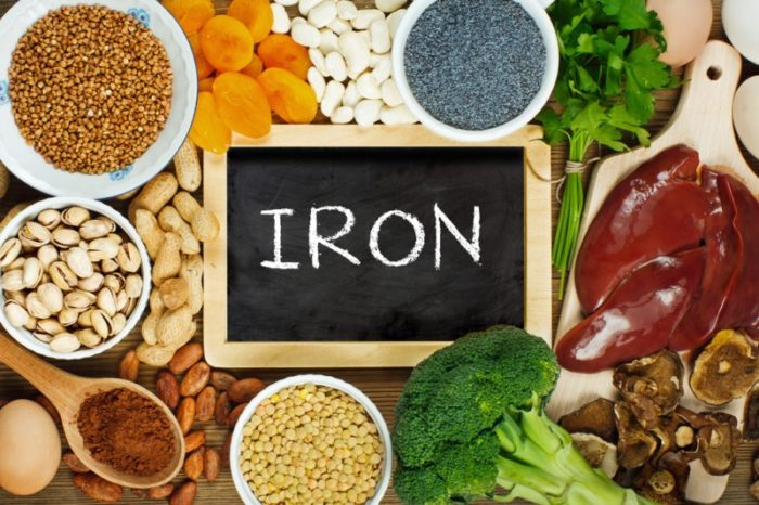 foods containing iron in them