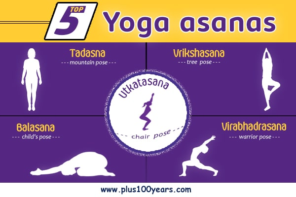 Top 5 yoga asanas