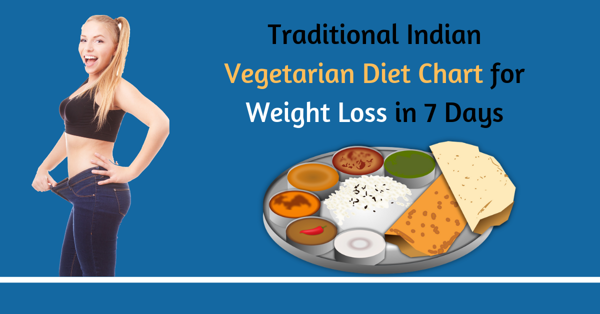 Traditional Indian Vegetarian Diet Chart for Weight Loss in 7 Days