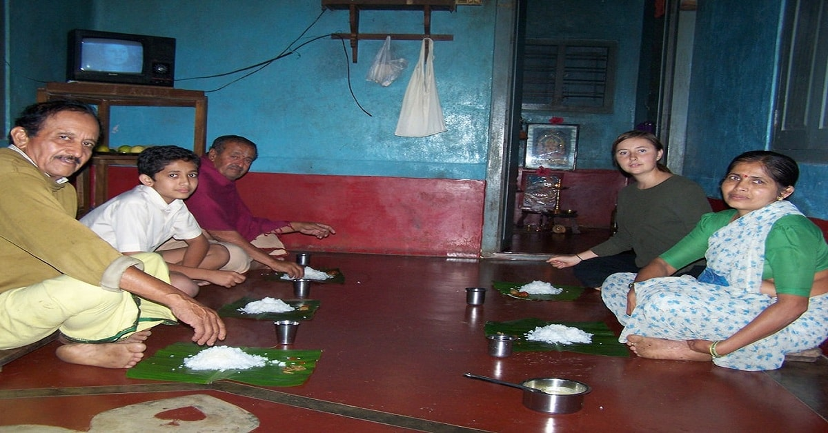 Health Consciousness Behind Great Indian Tradition Sitting on the Floor and Eating